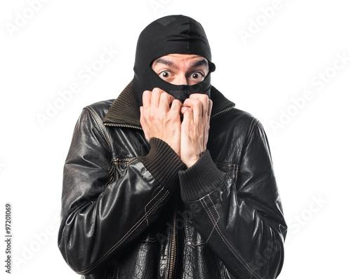 Photo Frightened Robber