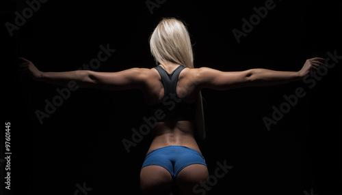 attractive fitness woman, trained female body, lifestyle portrai