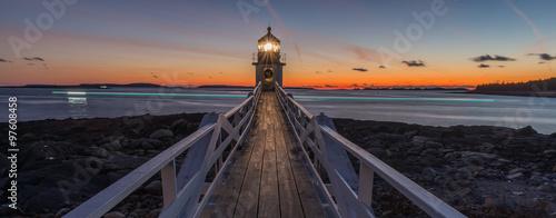 Fotografia Marshall Point Lighthouse at sunset