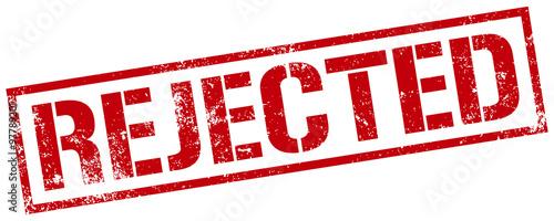 Valokuva rejected stamp