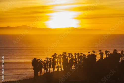 Channel Islands Sunset in Southern California #97839649
