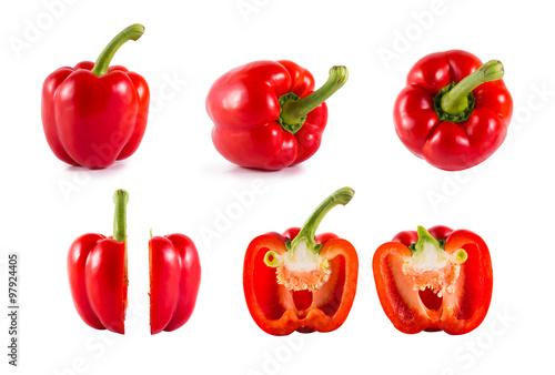Leinwand Poster Red Sweet bell pepper (capsicum)
