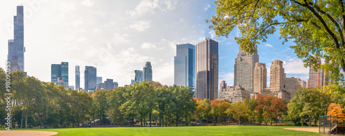 City Park and Skyscrapers