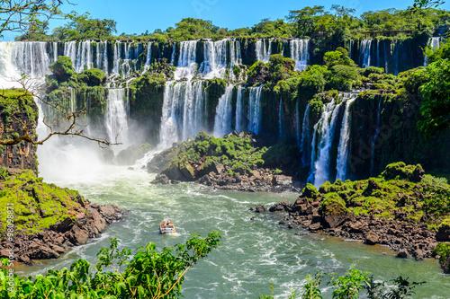 Fototapeta premium Iguazu spada widok z Argentyny