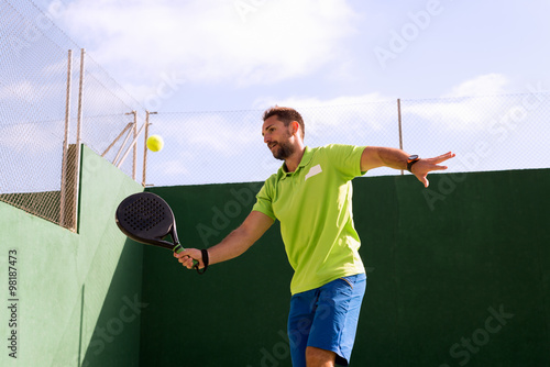 Canvas Print Playing tennis in Madrid