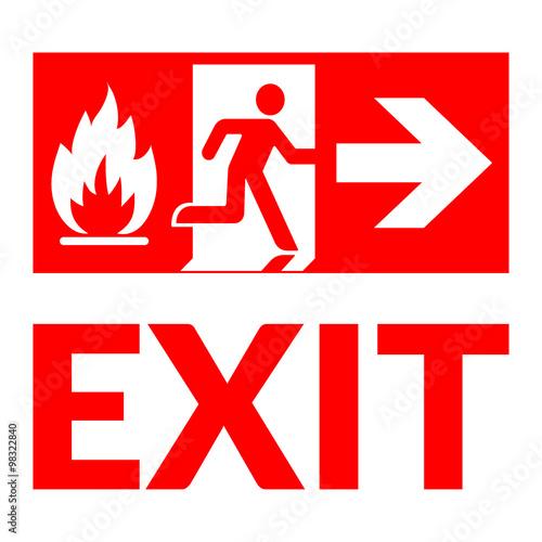 Exit sign Fototapeta