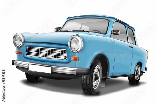 Canvas Print Trabant 601 - berühmter DDR Oldtimer, freigestellt