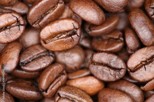 Kaffeebohnen Kaffee Bohnen Hintergrund #98490041