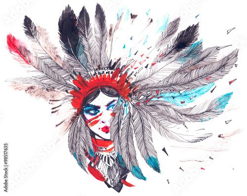 Obraz premium Indianin amerykański