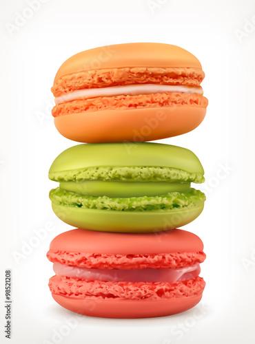 Fototapeta Macarons, vector icon