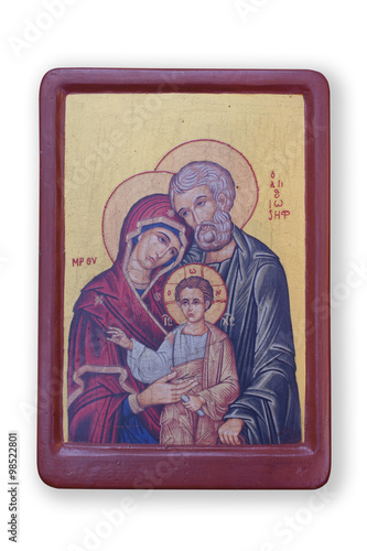 Obraz na plátne Holy Family icon