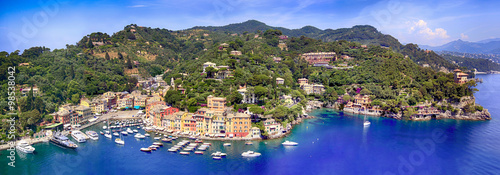 Fotografie, Obraz Portofino Italy Panorama