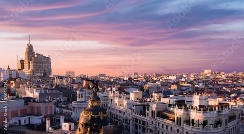 Fototapeta premium Madryt pejzaż miejski