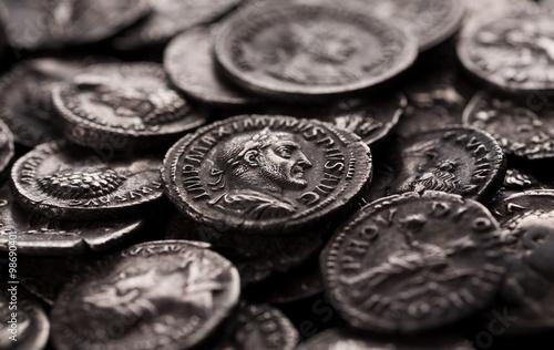 Fényképezés Authentic silver coins of ancient Rome
