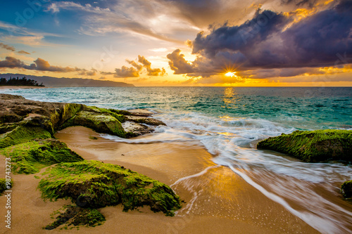 Fototapeta premium Piękny hawajski zachód słońca