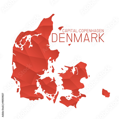 Photo Denmark map