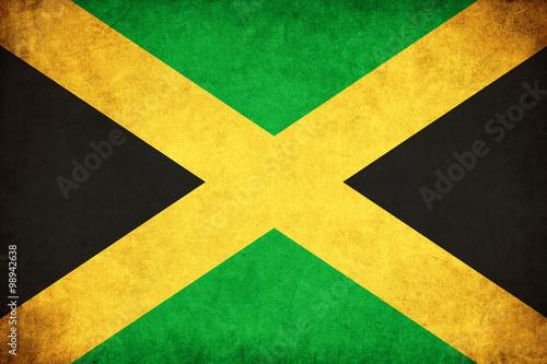 Wallpaper Mural Jamaica grunge flag illustration of country