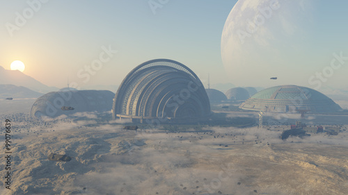 Photographie space colony