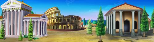 Fotografie, Obraz Ancient Rome. Panorama view