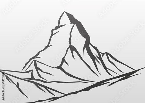 Photo Matterhorn (Çizim)