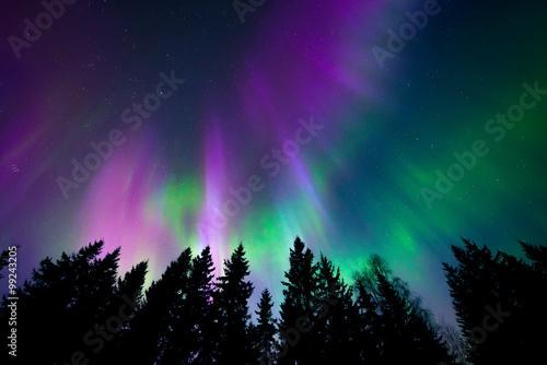 Kolorowe zorza polarna