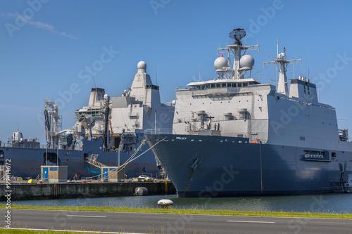 Carta da parati Dutch navy ships