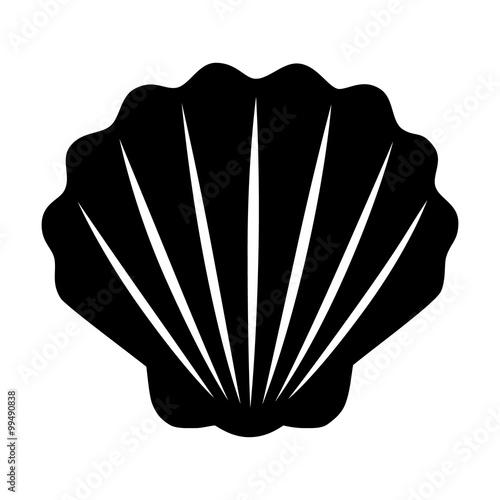 Billede på lærred Seashell / shellfish flat icon for apps and websites
