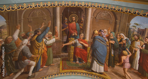 Fotografie, Obraz Jesus Christ in the court
