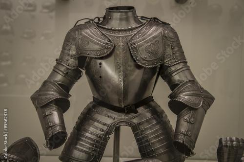 Fototapeta Medieval iron armor, Spanish armada