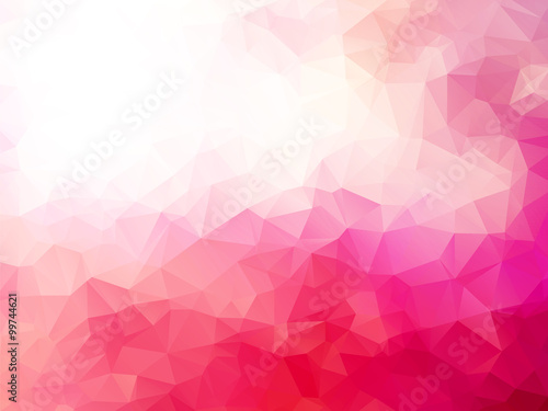 abstract triangular pink red background