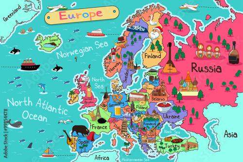 Canvas Print Europe Map