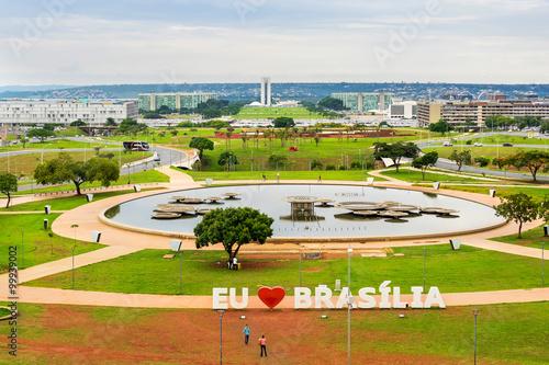 Aerial view of Brasilia, capital of Brazil.