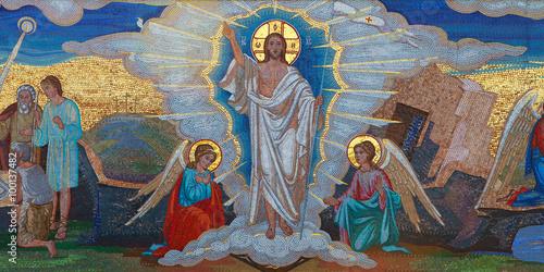 Αφίσα Religion. Mosaic of Saints. Orthodox church in Kirowograd Ukraine
