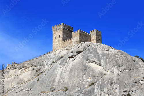 Canvas Print Fortress wall and towers