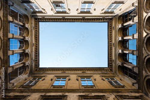 Photo Open courtyard in Budapest