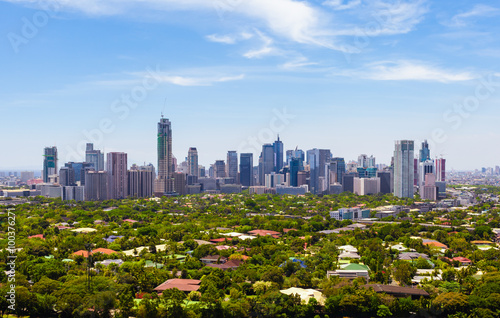 Modern financial and business district of Metro Manila, Philippines.