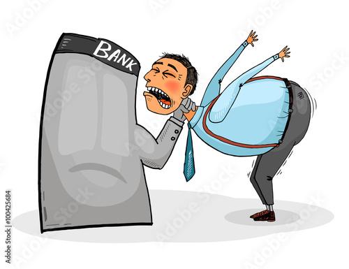 Debtor must pay the loan. Fototapet