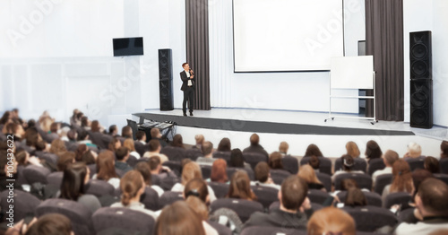 Canvas Print Speaker at Business convention and Presentation.