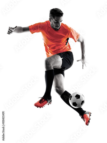 Photo Soccer player Man Isolated silhouette