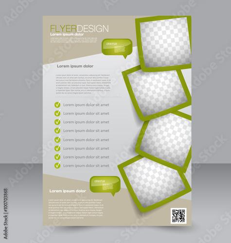 Fotografia Flyer template