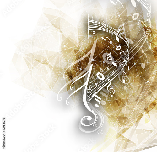 Photographie Abstract musical notes background