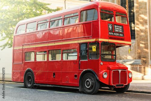 Canvastavla Red Double Decker Bus