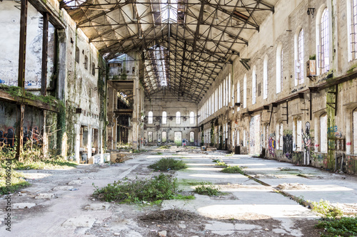 abandoned metallurgical factory waiting for a demolition