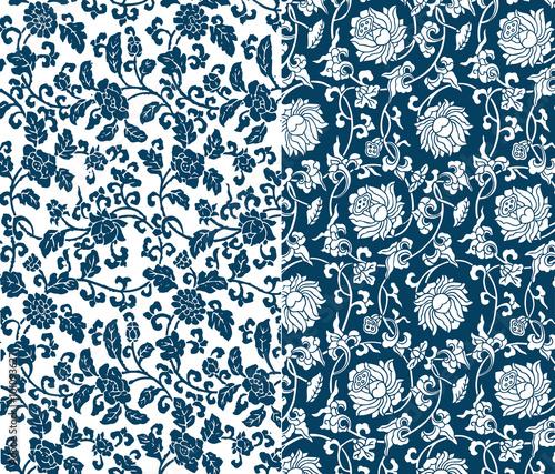 Fotografia Chinese floral pattern