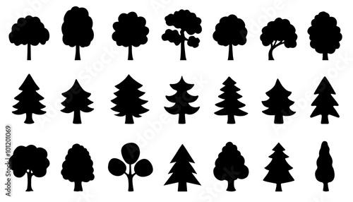 Obraz na płótnie tree simple silhouettes