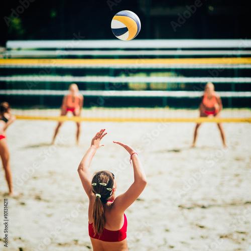 Obraz na plátně Plážový volejbal