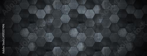 Fotografiet Dark Tiled Background with Spotlight (Website Head)