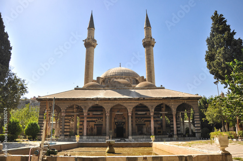 Mosque in Damascus Damascus, Syria - May 09, 2010: Mosque in Damascus, built during the Ottoman Empire era