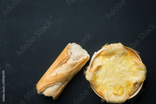 Baguette and baked Cheese