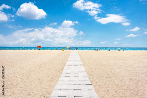 Canvas-taulu Empuriabrava beach, Costa Brava, Spain